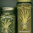 Glass Painting: wheat motif on jars
