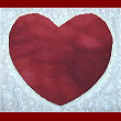 reverse applique heart