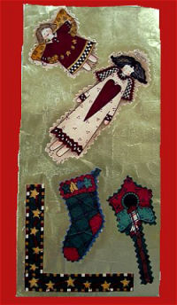 No Sew Christmas Patterns Easy Applique with Fabric Paint