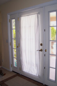 Free Curtain Pattern For Metal Door - With Magnetic Curtain Rod
