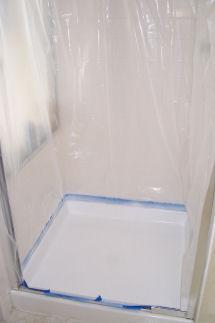 Refinish Fiberglass Shower Stall