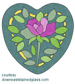 Rose stained glass pattern Home Decor - Compare Prices, Read