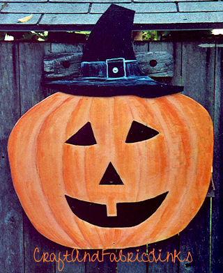 Free Painted Wood Pumpkin Pattern For Yard