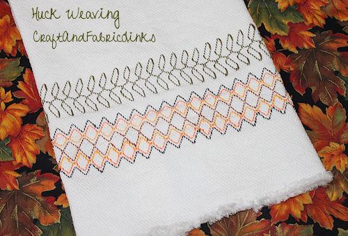 Huck Weaving Free Pattern
