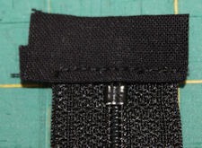 trimmed zipper end