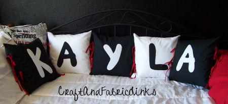 Letter applique free pillow pattern spiritdancerdesigns Gallery