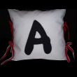 letter applique pillow