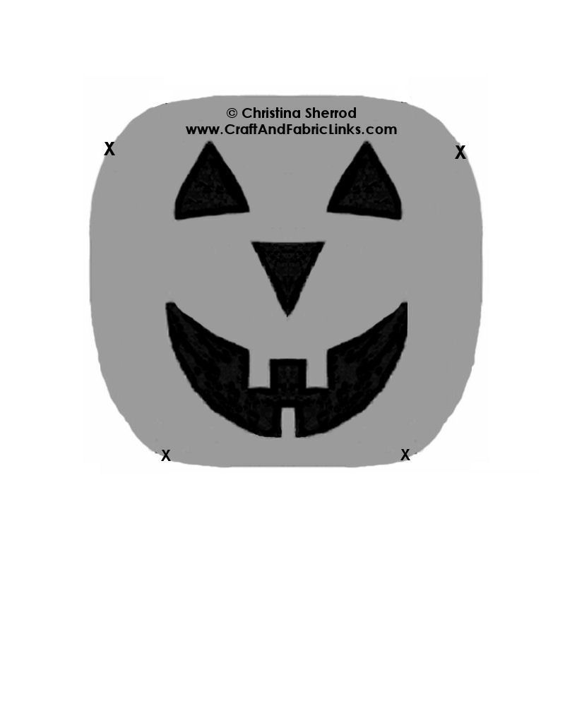 Free Halloween Pumpkin Placemat Pattern With Pumpkin