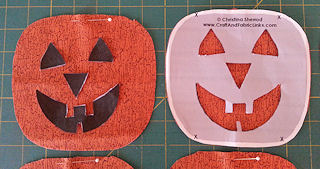 cut pumpkin face pattern