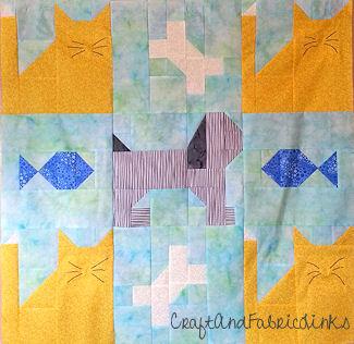 Puppy Dog Cat Quilt Pattern