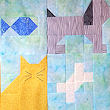 puppy and cat quilt