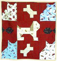 Free Scottie Dog Baby & Doll Quilt Pattern Instructions