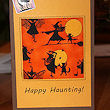 halloween quilted fabric card