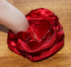 Silk flower hair clip melt polyester silk to create for What do we use silk for