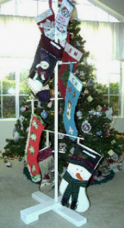 Christmas stocking stand