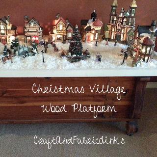 Christmas Village Platforms.Christmas Village Wood Platform